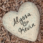 Personalized Couples Garden Stone