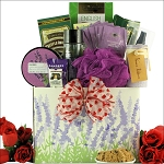 Valentines Day Gift Basket Bath & Body Lavender Spa Pleasures