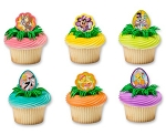 Looney Tunes Easter Cupcake Rings Cake Decorations