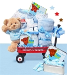 Personalized Its a Baby Boy Wagon of Gifts