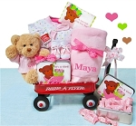 Personalized Its a Baby Girl Wagon of Gifts