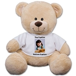 Personalized Teddy Bear Plush Add A Photo
