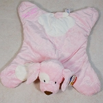 Personalized Baby Embroidered Blanket Pink Spunky Puppy