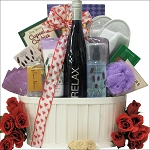 Valentines Day Gift Basket Wine & Spa