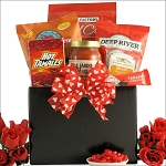 Valentines Day Gift Basket Hot & Spicy Gourmet