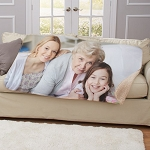 Personalized Photo Sherpa Throw Blanket
