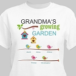Personalized Tshirt Growing Garden