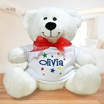 Personalized Teddy Bear Plush Stars