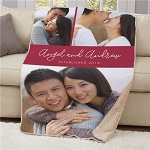 Personalized Couples Photo Sherpa Blanket