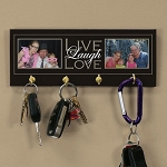 Personalized Photo Key Rack Live Laugh Love