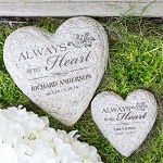 Personalized Memorial Garden Stone Heart