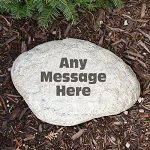 Personalized Garden Stone Add Any Message Choice of Round or Heart