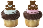 Baby Shower Cupcake Cake Decorations Boy or Girl