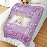 Personalized Baby Photo Blanket Sherpa
