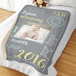 Personalized Baby Sherpa Blanket
