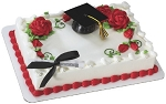 Graduation Cake Topper Decoration Cap with Tassel and Diploma