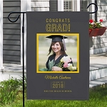 Personalized Graduation Garden Flag Add Photo