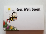 Enclosure gift card Get Well Soon Bee & Tulips