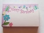 Enclosure gift card Birthday Flowers & Butterflies