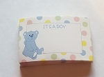 Enclosure gift card Its a boy baby blue teddy bear