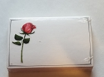 Enclosure gift card Rose Long Stem