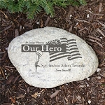 Personalized Military Garden Stone