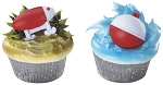 Fishing Cupcake Rings Cake Decorations Lures and Bobbers