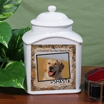 Personalized Pet Cremation Urn Ceramic Pet Photo Forever in our hearts