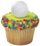 Golf Ball Cupcake and Cake Topper Decorations 2d