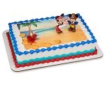 Mickey and Minnie Mouse Cake Topper Decoration Pirate Adventure