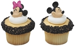 Mickey & Minnie Mouse Cupcake Rings Cake Decorations