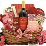 Valentines Day Gift Basket My Sweet Valentine Chocolate Strawberry Chocolate & Wine