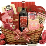 Chocolate & Wine Gift Basket My Sweet Valentine