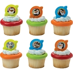 Penguins of Madagascar Cupcake Rings Cake Decorations