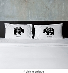 Personalized Mama Bear & Papa Bear Pillow Case Set