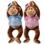 Get Well Monkey Plush Petting Zoo Hang in There Girl