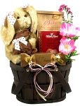 Easter Gift Basket with Chocolate Scented Bunny Plush