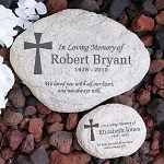 Personalized Memorial Garden Stone Cross
