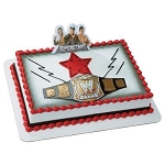 WWE Wrestling Championship Belt Cake Topper Decoration