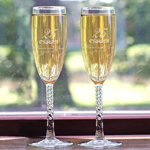 Personalized Wedding Anniversary Flutes