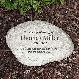 Personalized Memorial Garden Stone In Loving Memory Round